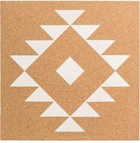 Prikbord Freya - bruin - 30x30 cm - Leen Bakker