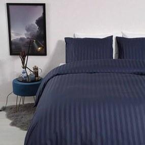 Dekbed-Discounter Satin Stripes - Blauw 1-persoons (140 x 200/220 cm + 1 kussensloop) Dekbedovertrek