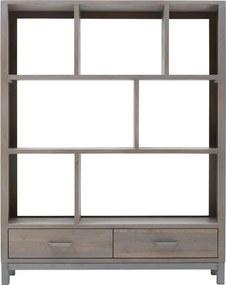 Goossens Roomdivider Malaga, 150 cm, 2 laden, 7 open vakken