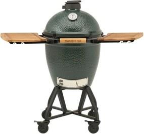 Big Green Egg Large kamado barbecue met verrijdbaar onderstel en zijtafels