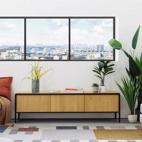 Kave Home Nadyria Retro Design Tv-meubel Eiken - 180x43x50cm.