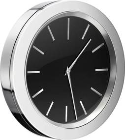 Smedbo Time klok Rond 6cm Zwart chroom YK380