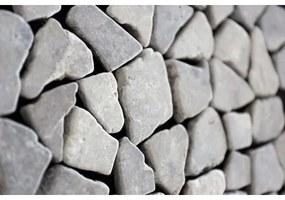 Kerabo Vloer- en wandtegel Light grey marmer scherven getrommeld mixed Natuursteenlook Getrommeld Grijs per matje SW0732401-1