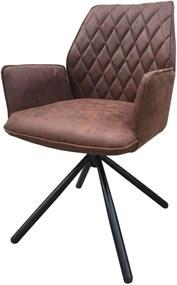 Viverne | Eetkamerstoel India breedte 57,5 cm x diepte 52 cm x hoogte 92 cm taupe eetkamerstoelen kunststof, metaal meubels | NADUVI outlet