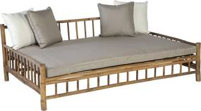 Persoon Exotan Bamboe lounge tuin ligbed daybed bamboo natural finish