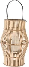 Riverdale | Lantaarn Urban Ine diameter 31 cm x hoogte 68 cm bruin lantaarns decoratie kaarsen & kandelaars | NADUVI outlet