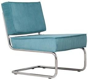 Zuiver Ridge Rib Retro Design Fauteuil Blauw