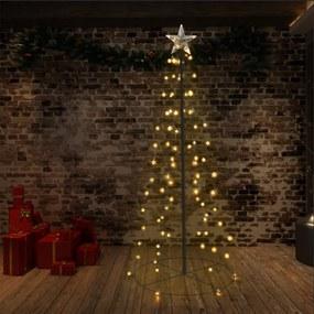 Kerstboom kegel 96 LED's binnen en buiten 72x180 cm