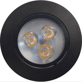 Inbouw Spotlamp Sanimex 85x45 mm Inclusief Armatuur en Gu10 3 Watt Zwart (3 stuks)