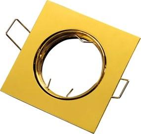 Inbouwspot, Vierkant, Kantelbaar, Aluminium, Goud