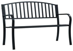 Tuinbank 125 cm staal zwart