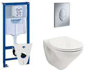 Villeroy en Boch Omnia Targa toiletset met inbouwreservoir, closetzitting en bedieningsplaat mat chroom