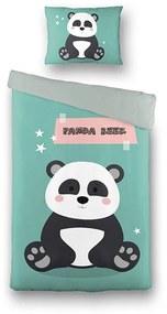 Fresh&Co  Kids Dekbedovertrek Cute Panda 140 x 200 cm - Kinderovertrek Dekbedovertrek