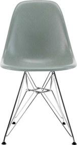 Vitra Eames DSR Fiberglass stoel chroom sea foam green