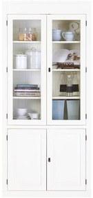 Goossens Vitrinekast Valence, 2 glasdeuren 2 dichte deuren