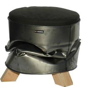 C-Barrel Dutch Design Circulaire Stoel - 3 Poots - Zilver Grijs
