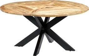 Eettafel rond 150x76 cm massief mangohout