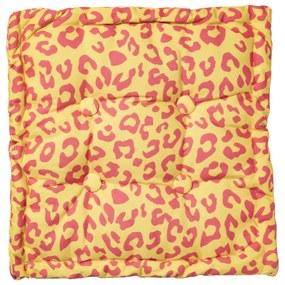 Matraskussen luipaard - geel - 45x45 cm
