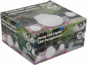LED Feestverlichting Prikkabel, 10 Lampen, 6 Meter, IP44, Op Batterijen