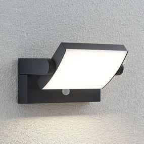 LED buitenwandlamp Sherin, draaibaar met sensor - lampen-24