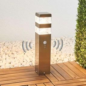 Bewegingssensor LED sokkellamp Sinja, rvs