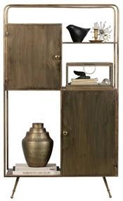 BePureHome Chief Metalen Wandkast Antique Brass - 82x38x140cm.