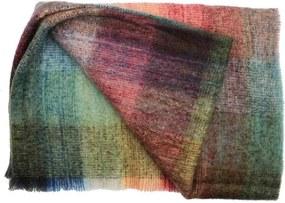 John Hanly - Plaid Brushed Mohair - Blauw/Groen - 135 x 180 cm