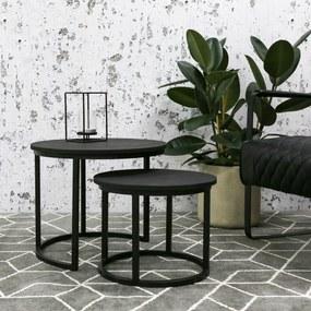 Dimehouse | 2x Salontafels Rosa zwart salontafels metaal meubels tafels | NADUVI outlet