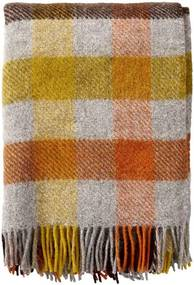 Plaid Gotland wol: ruiten, Multi Yellow