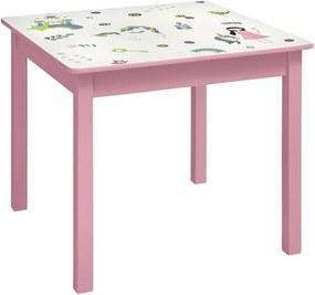 Tafel met 2 stoelen Eenhoorn/prinses