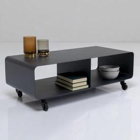 Kare Design Mobil Verrijdbaar Tv-meubel Donkergrijs - 90x42x30cm.