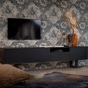 Industriële eikenhouten tv-meubel Dominique