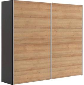 Goossens Kledingkast Easy Storage Sdk, 250 cm breed, 220 cm hoog, 2x 3 paneel schuifdeuren