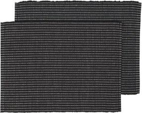 Placemats - 42 X 32 - Katoen - Zwart - 2 Stuks (zwart)