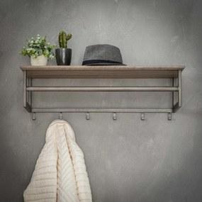 Metalen Wandkapstok Met Plank