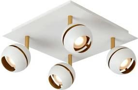 Lucide plafondspot Binari 4 LED - wit - Leen Bakker