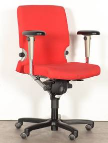 Bureaustoel 77, rood, 4D armleggers