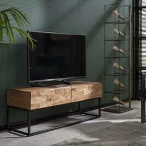 Massief Acaciahouten Tv-meubel 120 Cm - 120x40x46cm.