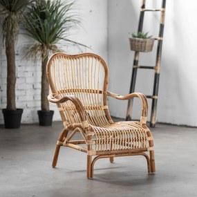 Rotan stoel Bari Naturel - Rotan - Het Mandenhuys - Industrieel & robuust