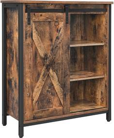 Nancy's Woodland Opbergkast - Dressoir - Kast met 3 Planken - Industrieel - Hout - Bruin - 70 x 30 x 80 cm