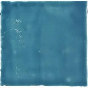 Kerabo Wandtegel Oud Hollandse witjes Sea Blue 13x13 cm Vintage Glans Blauw SW07310720-11
