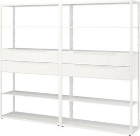 FJÄLKINGE Open kast met lades wit