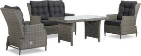 Garden Collections New Castle stoel-bank loungeset 4-delig