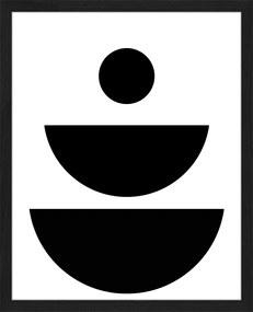 Any Image | Ingelijste print Abstract Shapes large: breedte 50 cm x hoogte 60 cm x dikte 2,5 cm zwart, wit posters & prints | NADUVI outlet