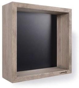 Wooden BoX eiken 30x30 cm met mat zwarte achterplaat