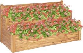 Plantenbak 2-laags 160x75x84 cm massief acaciahout