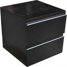 Ladekast 45x45 cm houtnerf, zwart gelakt
