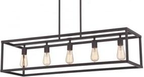 Blois Vintage Industriële Hanglamp Zwart 5 Lampen