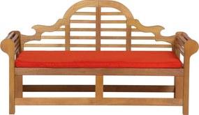 Tuinbank hout 180 cm met kussens in het licht terracotta JAVA MARLBORO