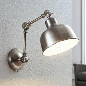 Wandlamp Rosita, gesatineerd nikkel, verstelbaar - lampen-24